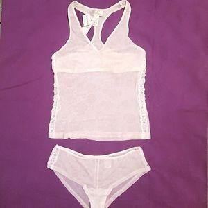 🆕️ Silk & Satin semi sheer lingerie set BNWT